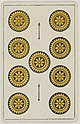 Aluette card deck - Grimaud - 1858-1890 - Nine of Coins.jpg