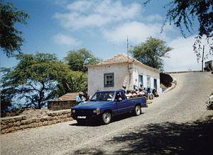 Transport in Cape Verde - A minibus (aluguer) on the island of Brava
