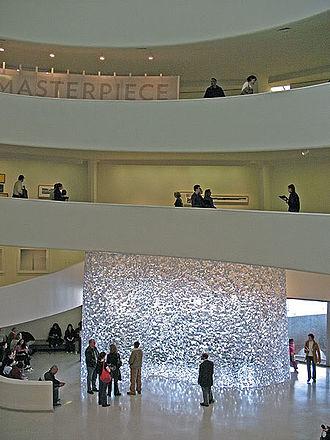 Alyson Shotz - Alyson Shotz. 'The Shape of Space' at the Solomon R. Guggenheim Museum in 2007.
