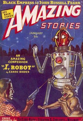 I, Robot (short story) - Image: Amazing Stories January 1939