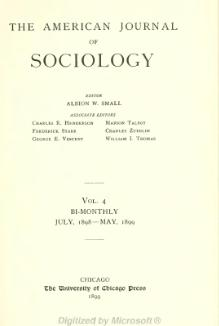 American Journal of Sociology Volume 4.djvu