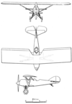 Amiot S.E.C.M. 110 C.1 3-view L'Aéronautique June,1928.png