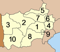 Map of districts