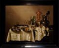 Amsterdam - Rijksmuseum 1885 - Gallery of Honour (1st Floor) - Still life with gilt goblet 1635 by Willem Claesz. Heda.png