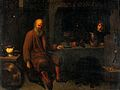 An alchemist in his laboratory. Oil painting after David Ryc Wellcome V0017670.jpg