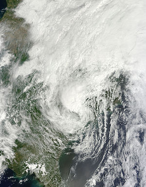 Tropical Storm Andrea (2013) - A weakening Tropical Storm Andrea over The Carolinas on June 7