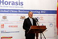 Andris Berzins, President of the Republic of Latvia, at the 2012 Global China Business Meeting (8230273786).jpg