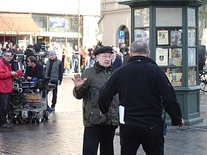 Andrzej Wajda - During the filming of Katyń in 2007