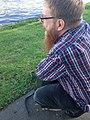 Andy Mabbett by Yarra River.jpg