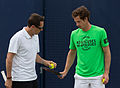 Andy Murray and Jonas Björkman 1, Aegon Championships, London, UK - Diliff.jpg