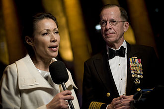 Ann Curry - Curry covering the 2009 Commander in Chief's Ball, with Chairman of the Joint Chiefs of Staff Michael Mullen