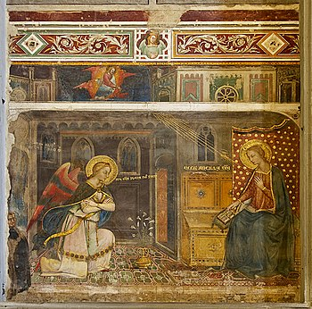"""Annunciation"", fresco (ca. 1371) by..."