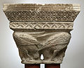 Anonyme toulousain - Chapiteau de colonnes jumelles , Oiseau aux cous enlacés - Musée des Augustins - ME 166 (4).jpg