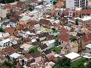 Roofs of Antananarivo, Madagascar