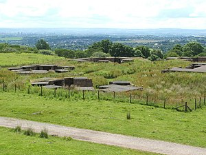 12th Anti-Aircraft Division (United Kingdom) - The remains of HAA gunsite N9 overlooking Clydebank.