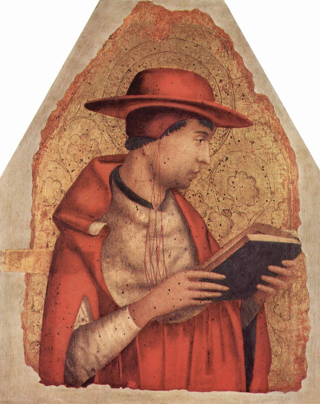 Antonello da Messina (1430–1479) |  St. Jerome, data circa 1472-1473, tempera on panel, 46.5 × 36 cm (18.3 × 14.2 in), Galleria Regionale della Sicilia, Palermo