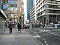 Approaching the junction of South Place and Moorgate - geograph.org.uk - 1831080.jpg