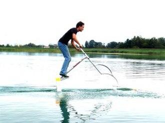 Human-powered hydrofoil - An AquaSkipper underway