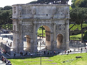 The Ideal City (painting) - The Arch of Constantine, Rome