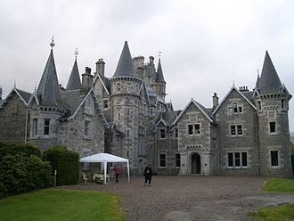 John Rhind - Ardverikie House, designed by John Rhind in 1871, and the setting for the BBC TV series Monarch of the Glen.