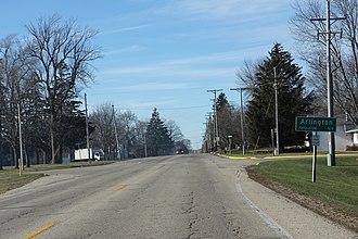 Arlington, Wisconsin - Image: Arlington Wisconsin Sign WIS60