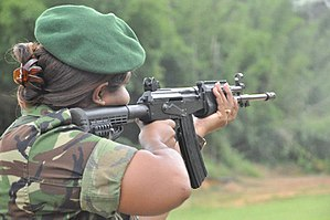 Trinidad and Tobago Defence Force - Trinidad and Tobago soldier in training.