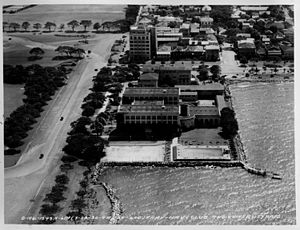 Manila Army and Navy Club - Aerial view of the Army and Navy Club, 1930