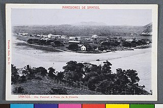 Arredores de Santos. Santos. Ilha Porchat e Praia de S. Vicente