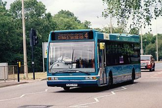 Arriva Shires & Essex - Optare Excel acquired with MK Metro in Bletchley in July 2010