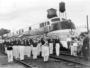 Orange Blossom Special (train) - Arrival of the Orange Blossom Special, December 1938 in Plant City, Florida.