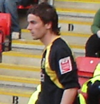 Arron Davies - Davies playing for Yeovil Town in 2007
