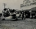 Arthur Butlers Comper Swift aeroplane G-ABRE being refuelled outside A.E.H. Garlings Commercial Store, Tooraweenah, 1931.jpg