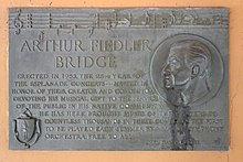 Arthur Fiedler Bridge plaque - Charles River Esplanade - Boston, MA - DSC02611.JPG