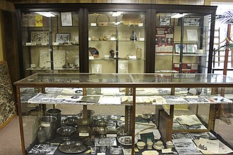 Louisiana History Museum - Artifacts in display cases