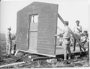 Ashdot Ya'akov - Members of the Yiftach Brigade receiving construction training at Ashdot Ya'akov in 1948