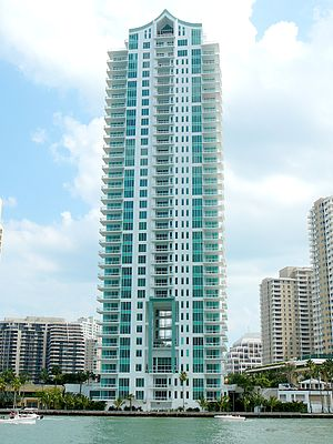 Asia (Miami) - The Asia tower on Brickell Key in Downtown Miami at the mouth of the Miami River