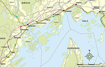 skaugum kart Askerbanen – Wikipedia skaugum kart