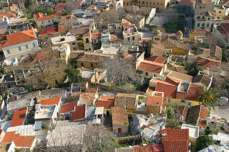 Plaka - Rooftops of traditional style houses in Plaka.