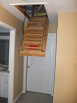 Attic ladder opening