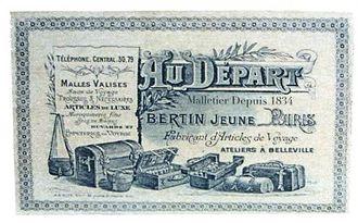 """Au Départ -  Au Départ sticker """"Malletier depuis 1834"""""""