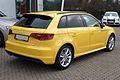 Audi A3 Sportback 1.4 TFSI Ambition S line Imolagelb Heck.JPG