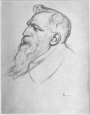 William Rothenstein - Rothenstein's portrait drawing of Auguste Rodin