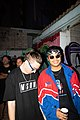 Australian rappers and members of the hip-hop group, MSON (Making Something Outta Nothing), Seaning and Ferdinand Stan at the Darwin Street Art Festival 2021.jpg