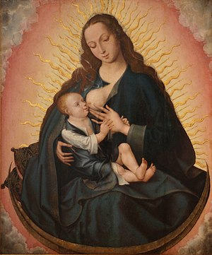 Nursing Madonna - The Nursing Madonna by unknown master from Bruges, 16th century. Museu de Aveiro, Portugal.