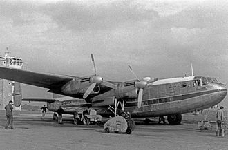 British Eagle - Avro York of Eagle Aviation Limited at Luton Airport in 1952