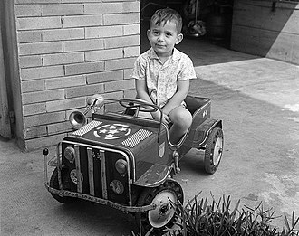 Ayrton Senna - Senna at the age of 3.