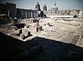 Aztec Great Temple (Templo Major) with National Cathedral (9792545626).jpg