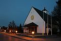 Bürmoos - Kirche St. Josef - abends.jpg
