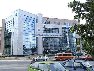 Reșița - The Banca Comercială Română's building in Reșița