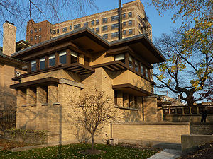 Rogers Park, Chicago - The Emil Bach House(1915), designed by Frank Lloyd Wright, was added to the National Register of Historic Places in 1979.